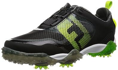 FootJoy Men's BOA-Previous Season Style Black / Lime / Light Grey Golf Shoe  -