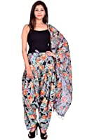 Fashion Store Women Printed Solid Cotton Full Multi-Coloured Patiala Salwar Dupatta Set(Free Size,Multi Color)