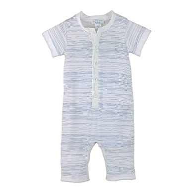 Feather Baby Boys Clothes Pima Cotton Short Sleeve Henley One Piece