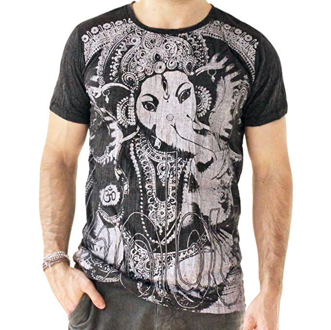 Yoga Shirts - Omtimistic Hombre Casual Ganesh Graphic tee ...