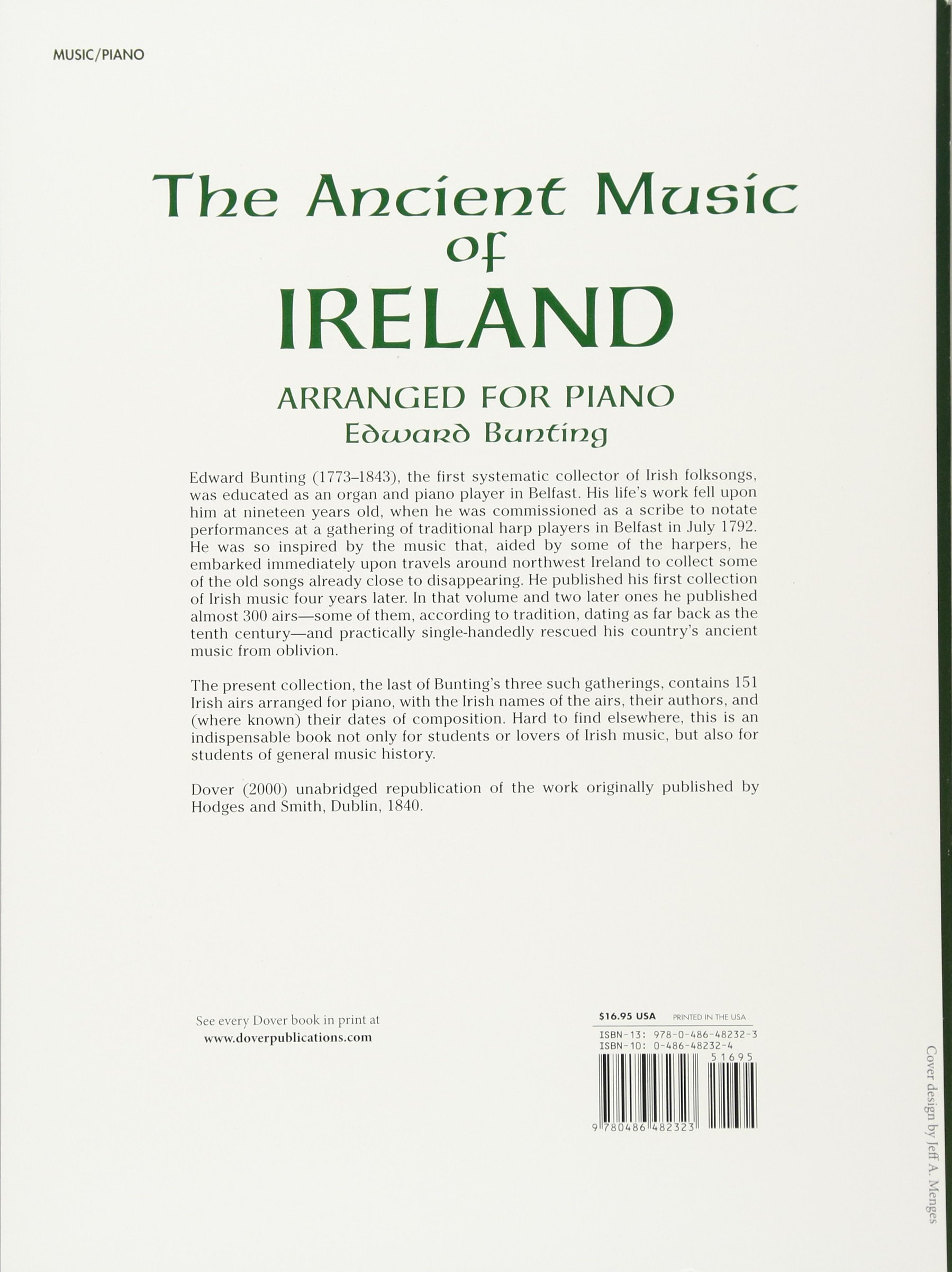 Ancient Irish Airs and Dances: 201 Classic Tunes Arranged for Piano (Dover Music for Piano)