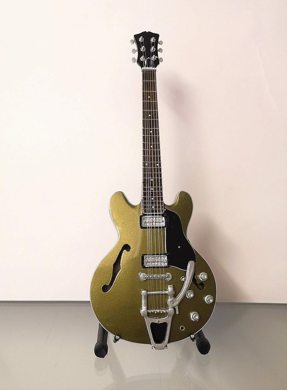 R/éplique de guitare miniature avec bo/îte de pr/ésentation et support Audioslave Chris Cornell