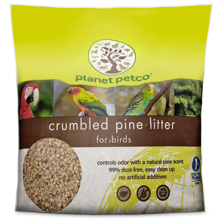 Planet Petco Crumbled Pine Bird Litter 10 lbs.