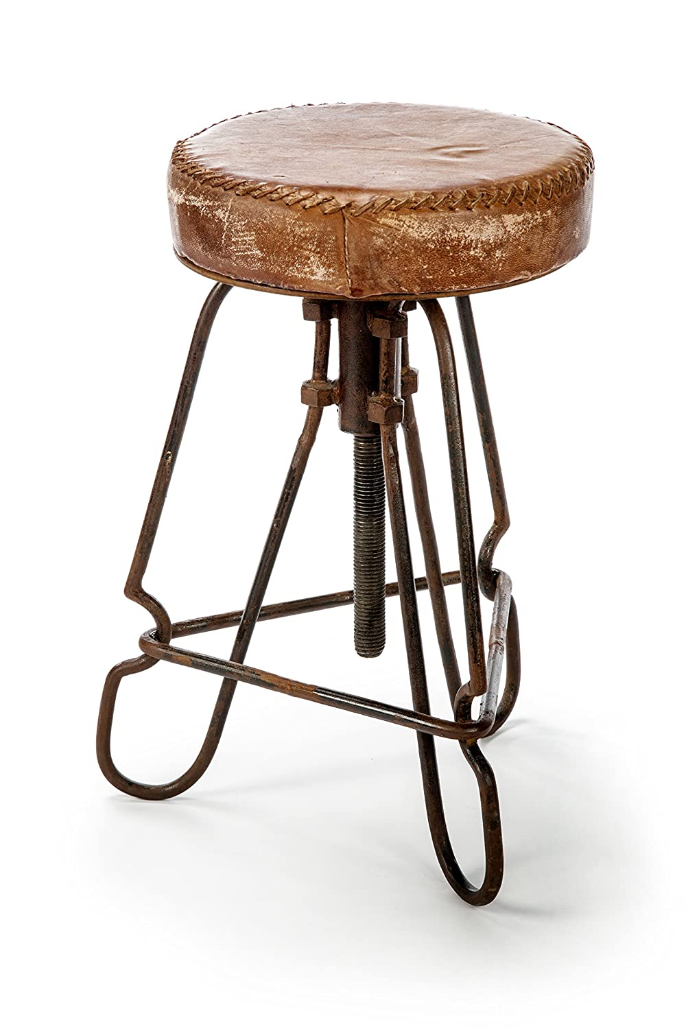 Awe Inspiring The Barrel Shack Bridgette Handmade Leather Stool From Gamerscity Chair Design For Home Gamerscityorg