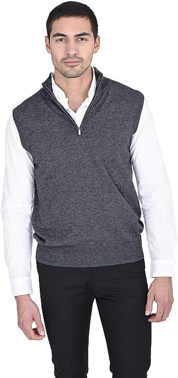 MARTIN PATTERNED SWEATER 1//4 Zip Sweater Vest WINDSTOPPER MERINO//COTTON