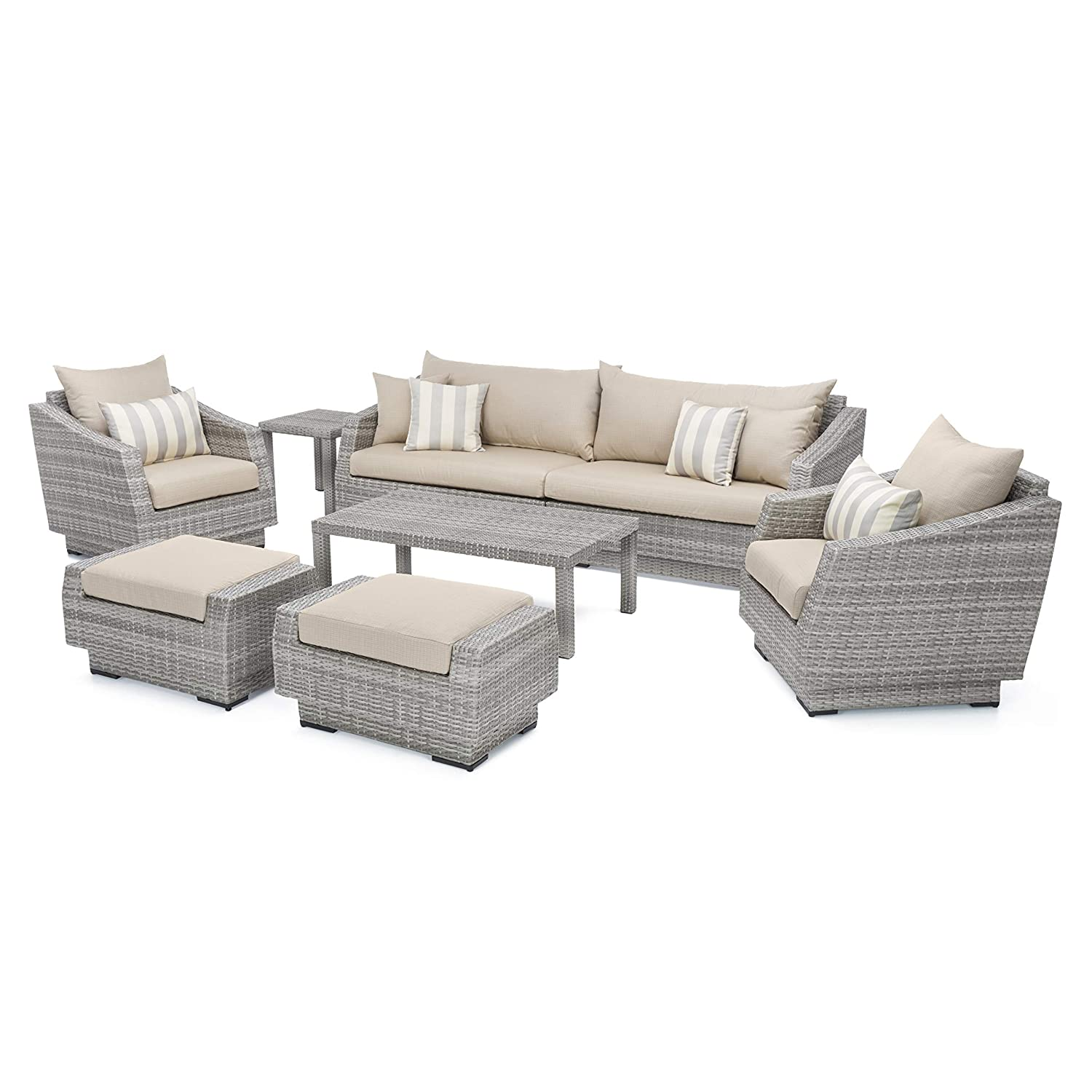 Amazon Com Rst Brands 8 Piece Cannes Sofa And Club Chair Deep