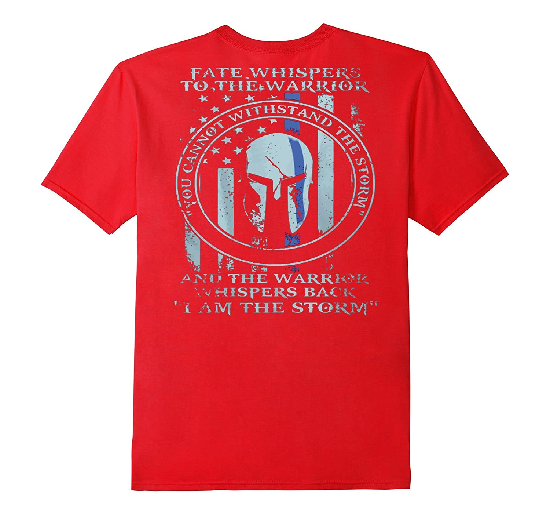 Thin Blue Line American Flag/K9/POLICE: I AM THE STORM shirt-BN