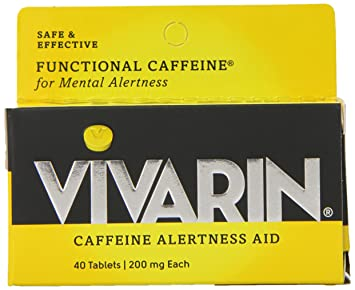Vivarin Brand Alertness Aid, 40 tablets