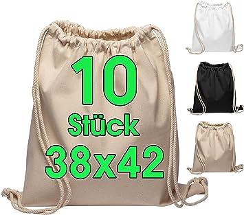 Bolsa de gimnasia de algodón 10 piezas Bolsa deportiva de 38 x 42 ...