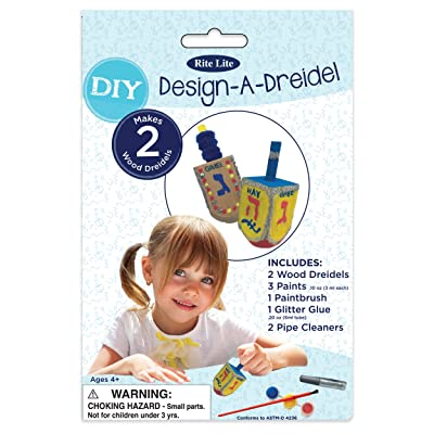 Rite -Lite Judaica Design a Dreidel Kit Craft, Multi-Colored: Home & Kitchen