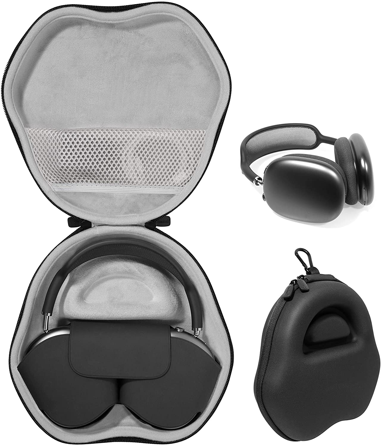 CaseSack Case for New Apple AirPods Max Headphones, for The Headphones with Cover (Black)