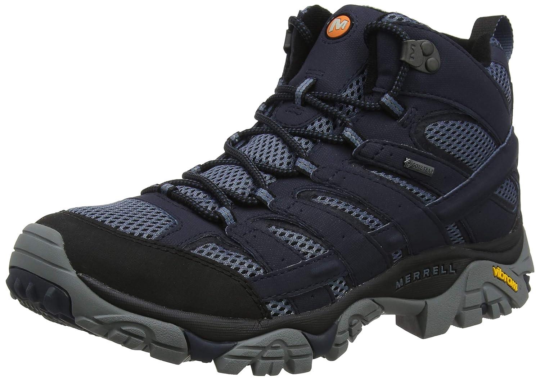 Bleu (Navy) Merrell Moab 2 Mid GTX, Chaussures de Randonnée Hautes Homme 43.5 EU