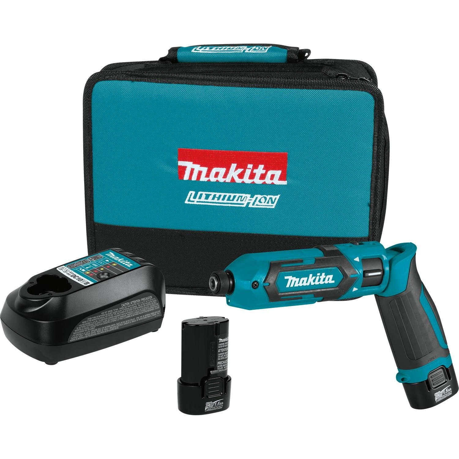 Makita TD022DSE 7.2V Lithium-Ion Cordless 1/4'' Hex Impact Driver Kit