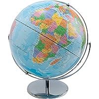 Advantus Corporation 30502 World Globe with Blue Oceans, Metal Desktop Base