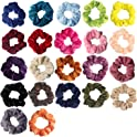 22-Pack Sundatom Velvet Hair Scrunchies