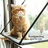 CO-Z 88lbs Cat Window Perch Seat with a Thickened Cushion Kitty Window Mount Cat Bed