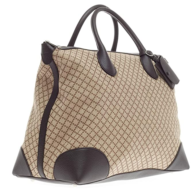 403ff77fc22 Gucci Brown Diamante Canvas and Leather Travel Carry On Tote for Men  374226  Amazon.ca  Clothing   Accessories
