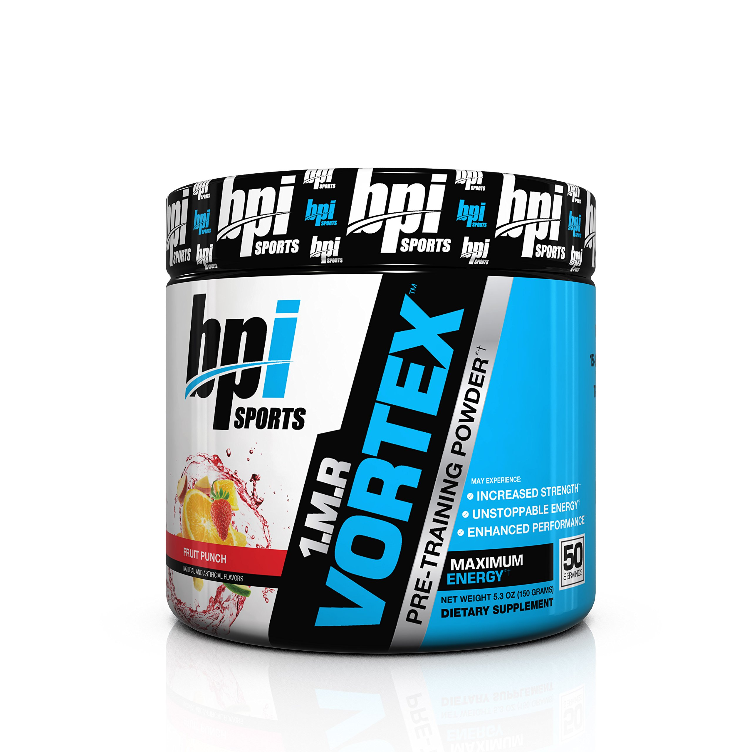BPI Sports 1.M.R Vortex Pre Workout Powder, Non Habit Forming, Sustained Energy & Nitric Oxide Booster, Fruit Punch, 5.3 Ounce by BPI Sports