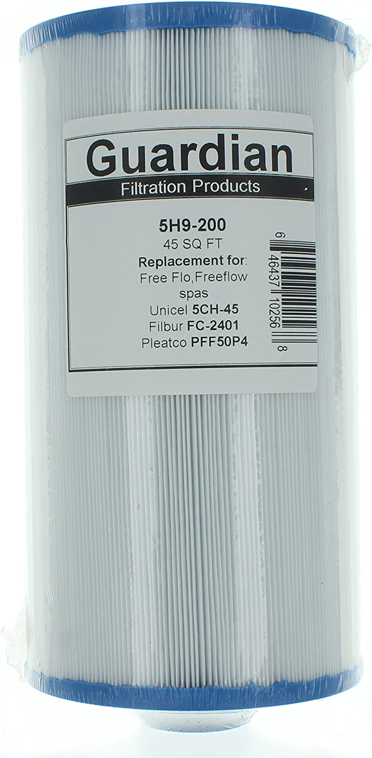 Guardian pool/spa filter fits:Pleatco: PFF50P4 | Unicel: 5CH-45 | Filbur: FC-2401freeflo,freeflow, aquaterra spas