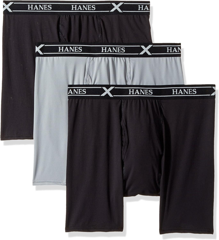 Hanes Ultimate Men's 3-Pack X-Temp Air Long Leg Boxer Briefs