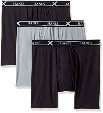 d8275d2b2f67 Hanes Ultimate Men's 3-Pack X-Temp Air Long Leg Boxer Briefs, Assorted