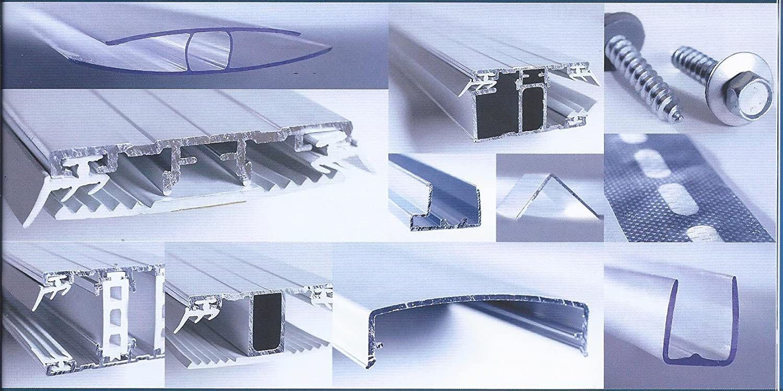 Flachprofilband Breite 60 mm Alu Rand Alu Oberprofil mit Dichtungen und TPR Stegprofil f/ür Doppelstegplatten 16 mm