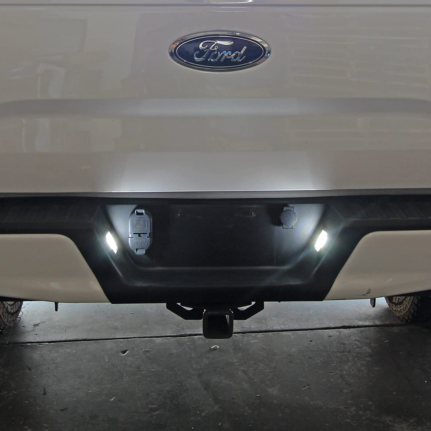 Clear Lens Optix Project RA 2015-18 Ford F-150 Replacement 5000K White High Power LED License Plate Housing