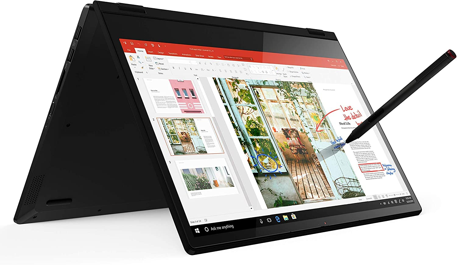 Lenovo Flex 14 2-in-1 Convertible Laptop, 14 Inch FHD, Touchscreen, AMD Ryzen 5 3500U Processor, Radeon Vega 8 Graphics, 8GB DDR4 RAM, 256GB NVMe SSD, Win 10, Black, Pen Included (Renewed)