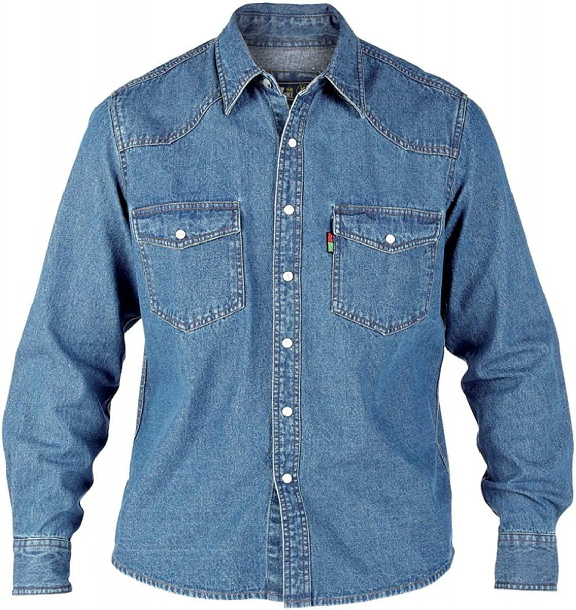 Duke London heeren Jeans Camisa: Amazon.es: Ropa y accesorios