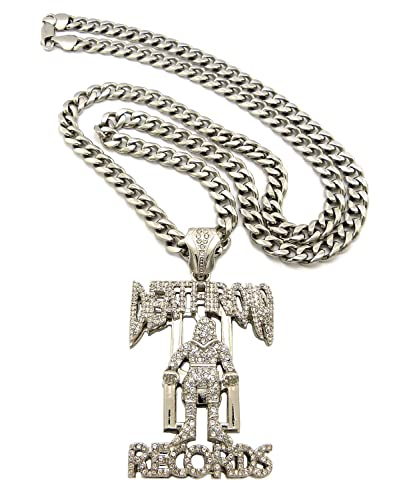 Iced out death row records pendant necklace 8mm 36 top quality iced out death row records pendant necklace 8mm 36quot top quality stainless steel miami cuban aloadofball Choice Image