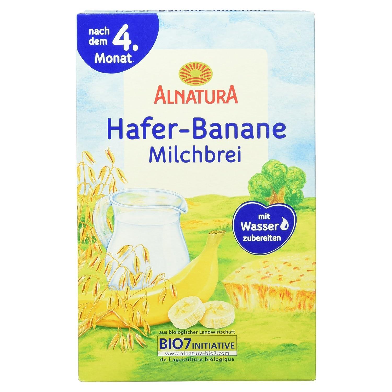 Alnatura Bio Hafer-Banane-Milchbrei, 6er Pack (6 x 250 g) 363765