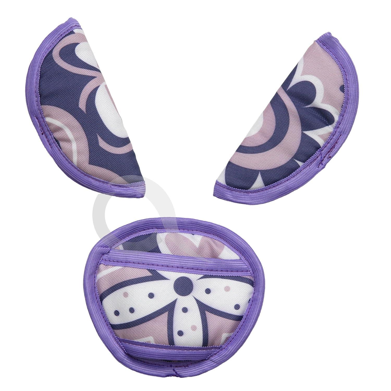 SOFT belts pads shoulder STRAP CROTCH cover UNIVERSAL fit ALL seats P051-purple