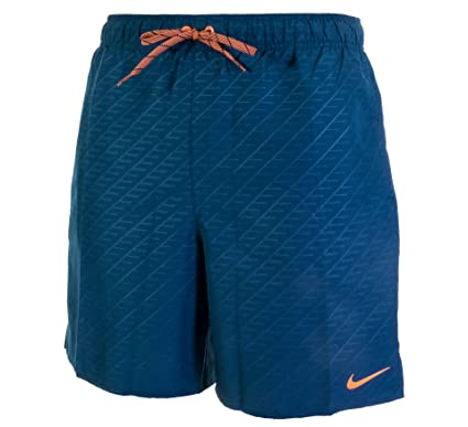 1d6285d29d Nike Men Dark Turquoise Printed Logo Swim Shorts: Nike: Amazon.co.uk:  Clothing