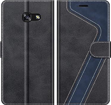 MOBESV Funda para Samsung Galaxy A5 2017, Funda Libro Samsung A5 2017, Funda Móvil Samsung Galaxy A5 2017 Magnético Carcasa para Samsung Galaxy A5 2017 Funda con Tapa, Elegante Negro: Amazon.es: Electrónica
