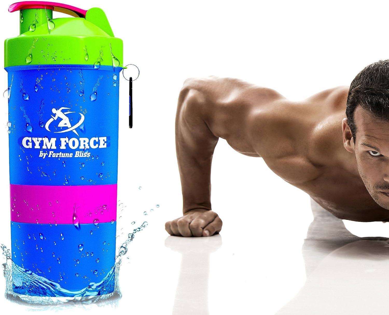 Gimnasio Fuerza # 1 de proteína coctelera botella   Pérdida de Peso dieta libre de BPA Bodybuilding Smart pimentero Calidad garantizada con ...