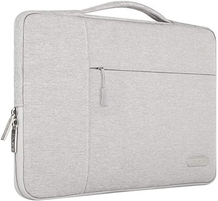 MOSISO Laptop Sleeve Compatible with 13-13.3 inch MacBook Air, MacBook Pro, Notebook Computer, Polyester Multifunctional Briefcase Carrying Bag, Gray