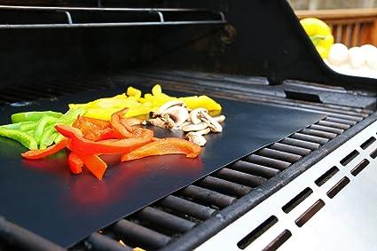 Juego de 3 láminas Sujeo de gran calidad para barbacoas de gas, carbón o eléctricas, para asar a la parrilla chuletas, hamburguesas, perritos ...