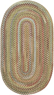 """product image for Capel Rugs Kill Devil Hill Oval Braided Area Rug, 3 x 5"""", Dusty Multicolor"""