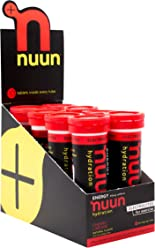 Nuun Hydration: Electrolyte + Caffeine Drink Tablets, Cherry Limeade, Box of 8 Tubes (80 servings), Performance Formula with A Kick