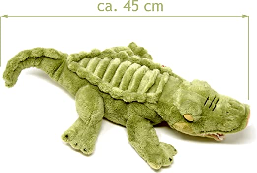 Lashuma Plüschtier Alligator Grün, Keel Toys Krokodil Kuscheltier 45 cm