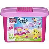 Building Blocks Pink Tub (100-Piece) (Mini Blocks 3+)
