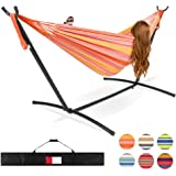 Best Choice Products 2-Person Indoor Outdoor Brazilian-Style Cotton Double Hammock Bed w/Carrying Bag, Steel Stand…