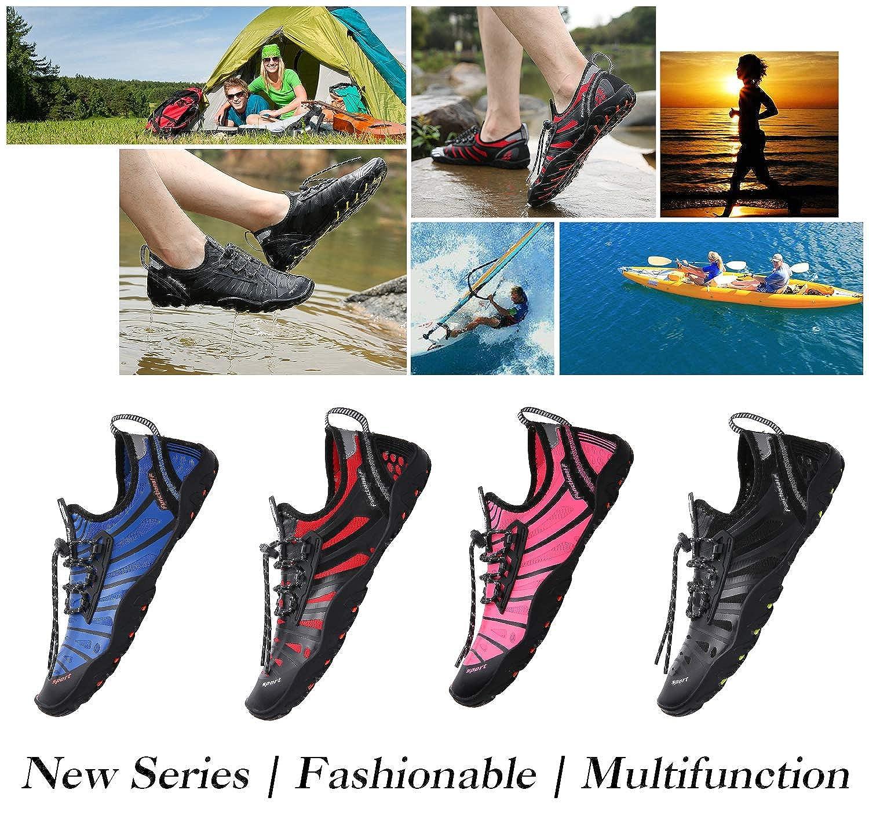 Mishansha Mens Womens Water Shoes Barefoot Quick Dry Beach Swim Diving Kayaking Surf Windsurfing Aqua Sports