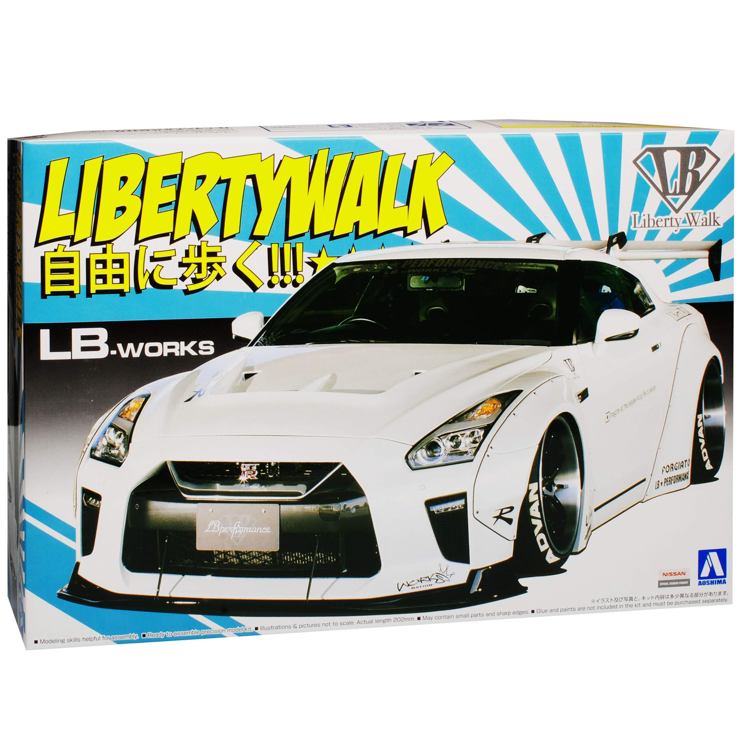Nissan Skyline R35 GT-R LB-Works Liberty Walk Weiss 55908 Nr 11 Kit Bausatz 1//24