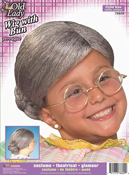 Toddler Old Lady Wig Sizes 0-5