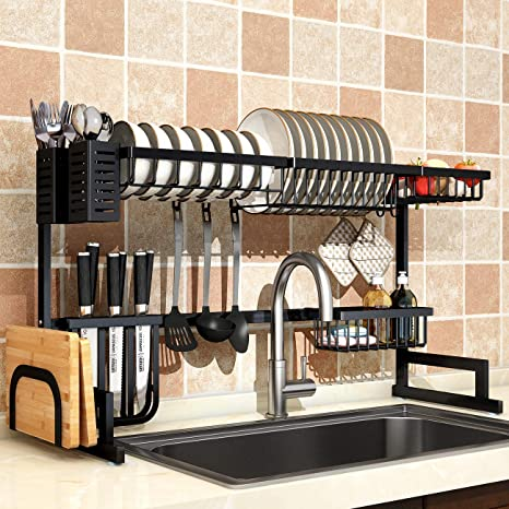Amazon.com: Tendedero para fregadero, Chic, Negro: Kitchen ...