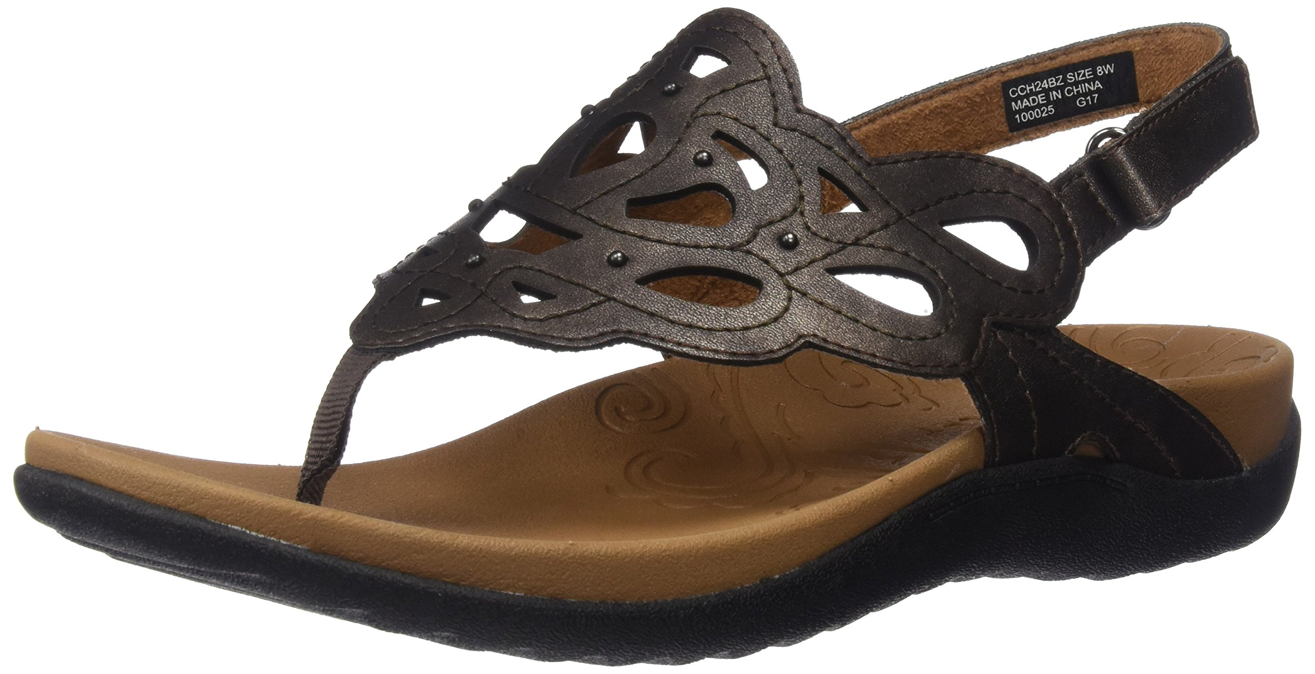 Rockport Women's Ridge Sling Sandal, Bronze, 9 M US