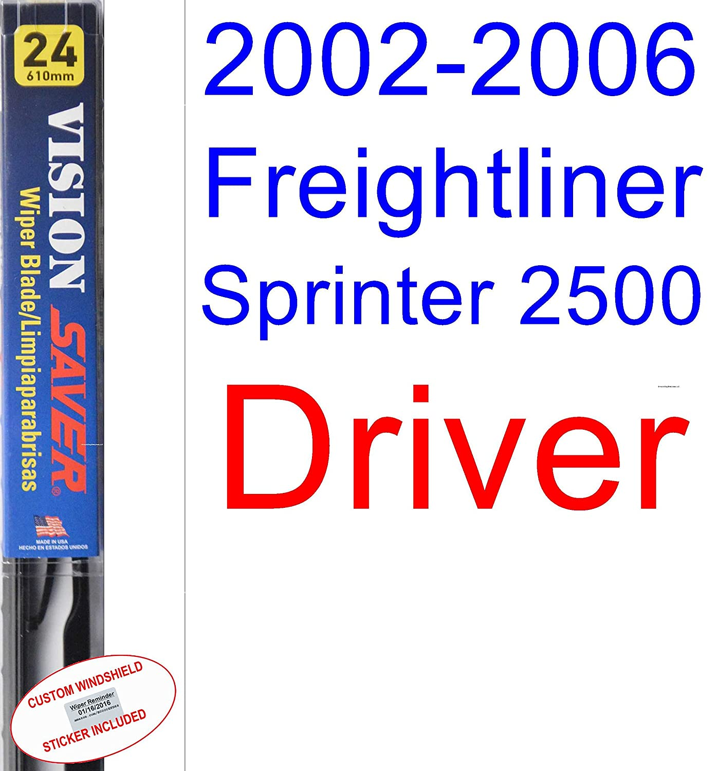 Amazon.com: 2002-2006 Freightliner Sprinter 2500 Wiper Blade (Driver) (Saver Automotive Products-Vision Saver) (2003,2004,2005): Automotive