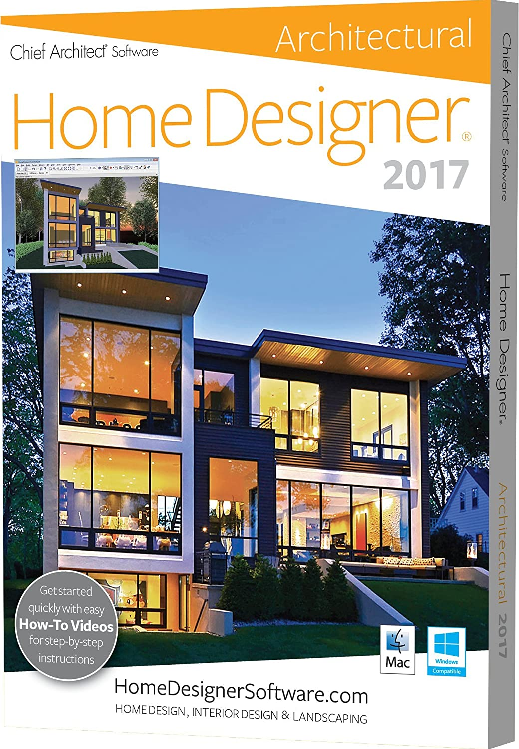 amazoncom chief architect home designer architectural 2017 software - Architect Home Designer