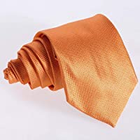 Electomania® lassic Jacquard Woven Men's Silk Tie Necktie Neck Ties Wedding Party New (Orange)